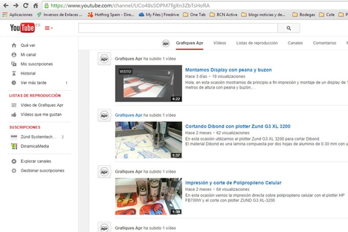 #Canal Youtube