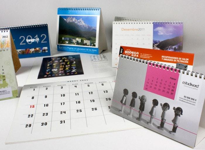 prductos calendarios varios