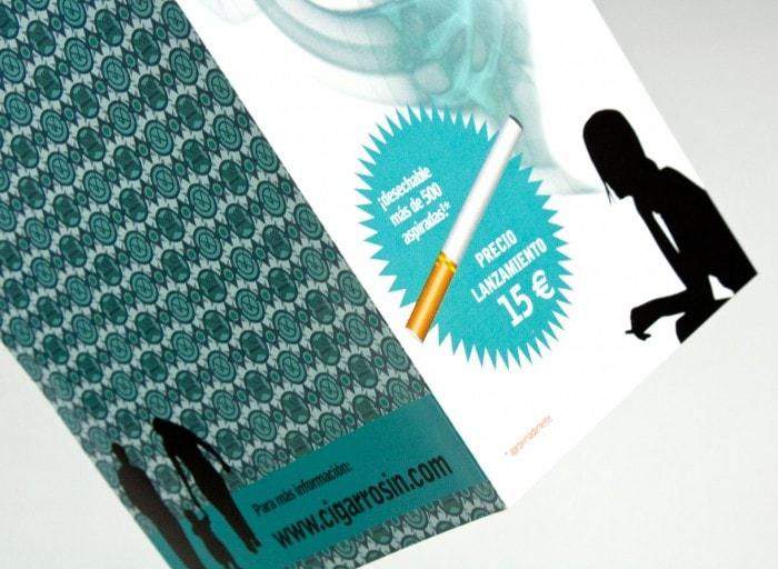 diseño grafico diptico cigarrosin