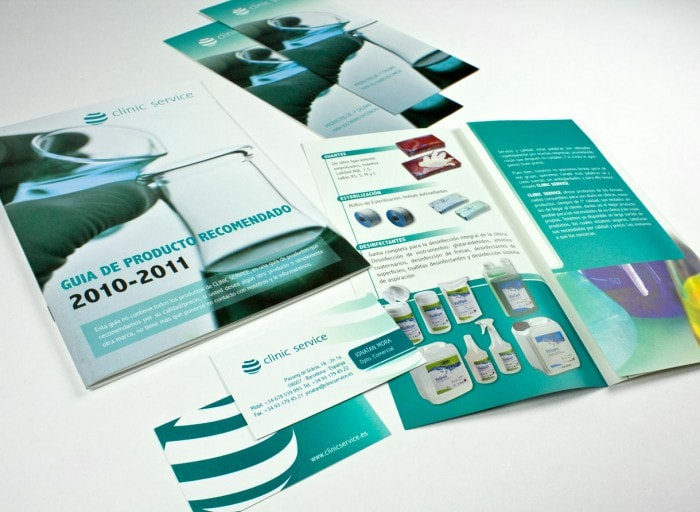 diseño grafico folletos clinic-service