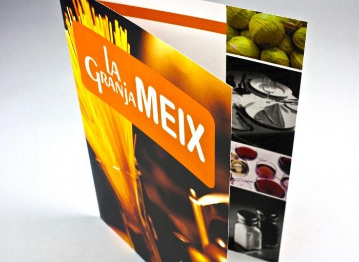diseño grafico diptico La Granja Meix