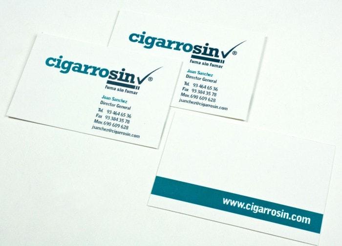 Diseño tarjeta de visita Cigarrosin